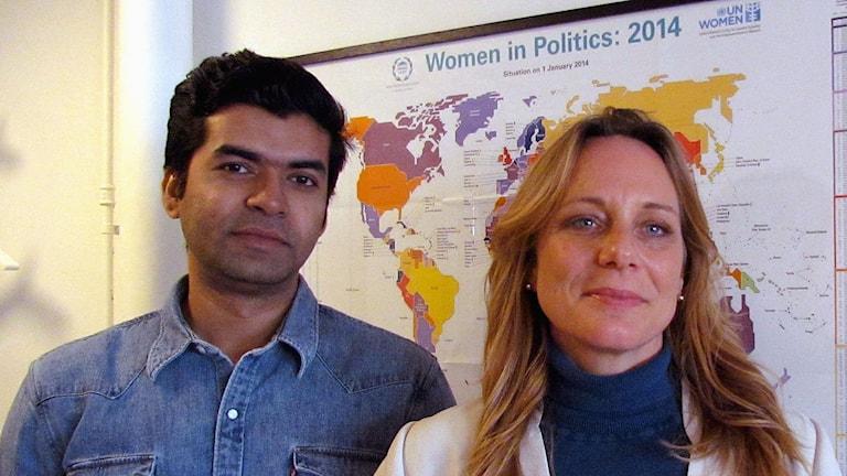 Mohammad Shomoan och Shannon Lövgren om firandet av kvinnodagen i Bangladesh och USA.