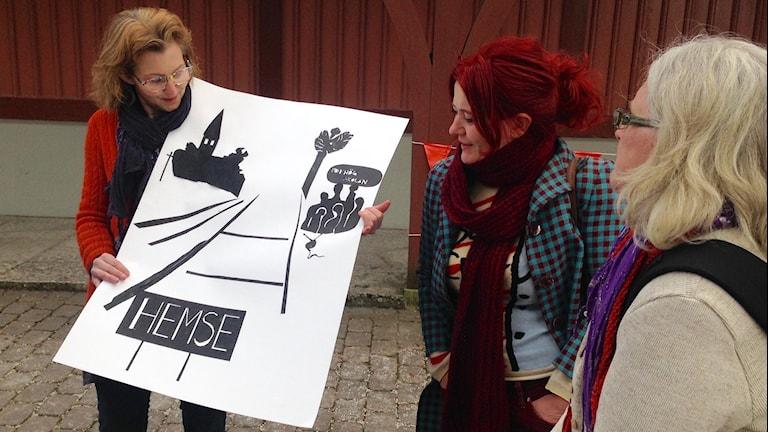 Elever från folkhögskolan i Hemse. Foto: Jack Lantz/Sveriges Radio
