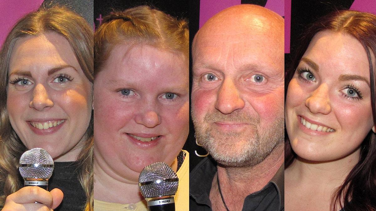Karolina Lyngstad, Maria Bjarnestad, Dag Edlund och Jennifer Olsson.