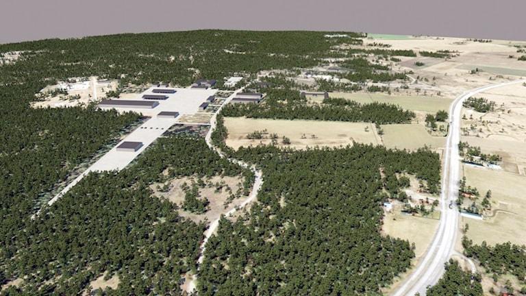 Så här kan 18:e stridsgruppens garnisonsområde p Tofta skjutfält bli.