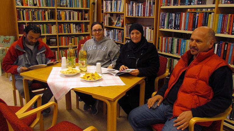 Ali Shlash, Julia Wazaifi, Sahar Ramadan och Mohammed Abdallah.