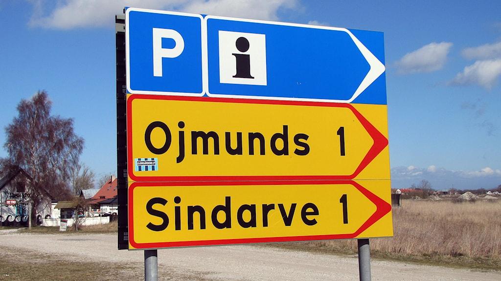 Vägen till Ojmunds och  Sindarve i Hamra.