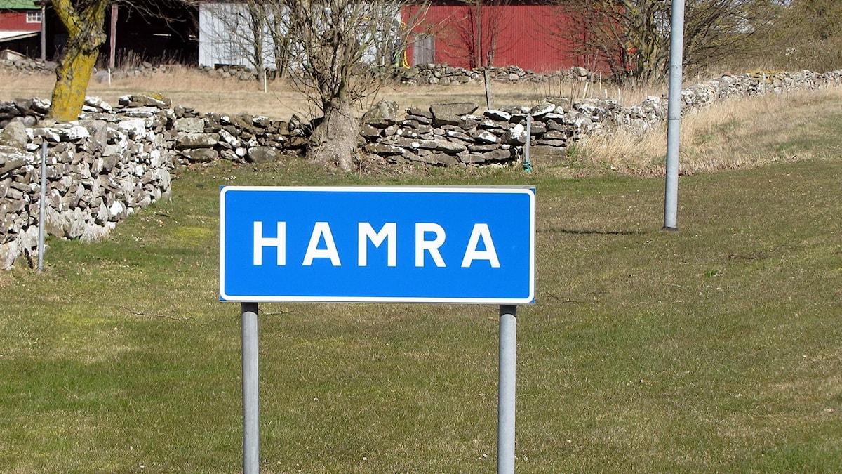 Hamra-skylt.