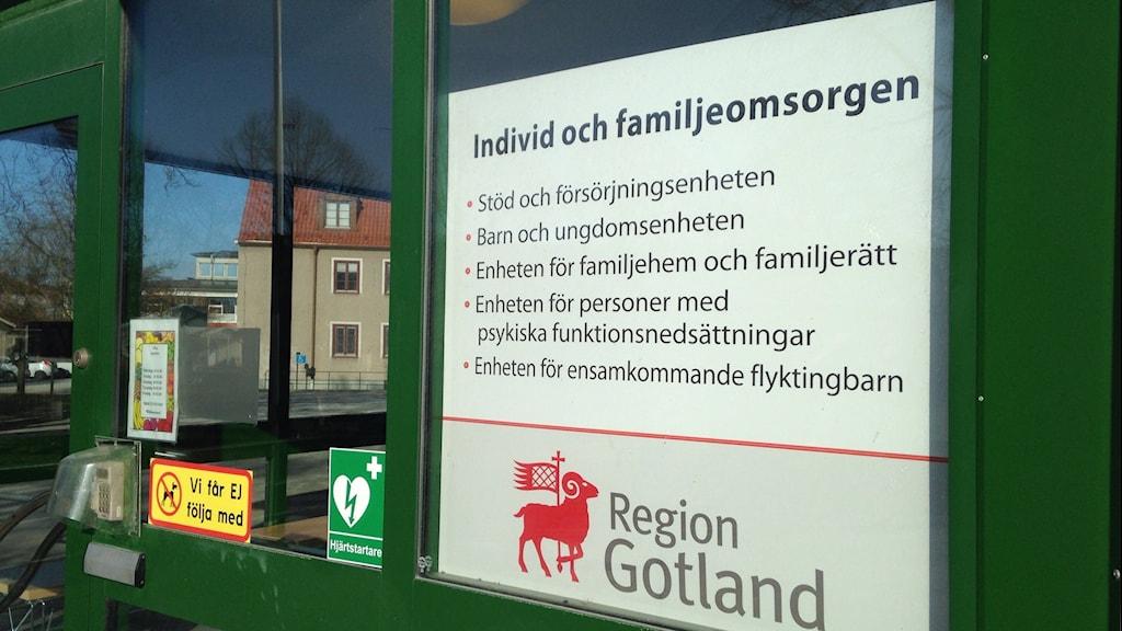 Individ- och familjeomsorgen Regio Gotland. Foto: Katarina Hedström/Sveriges Radio