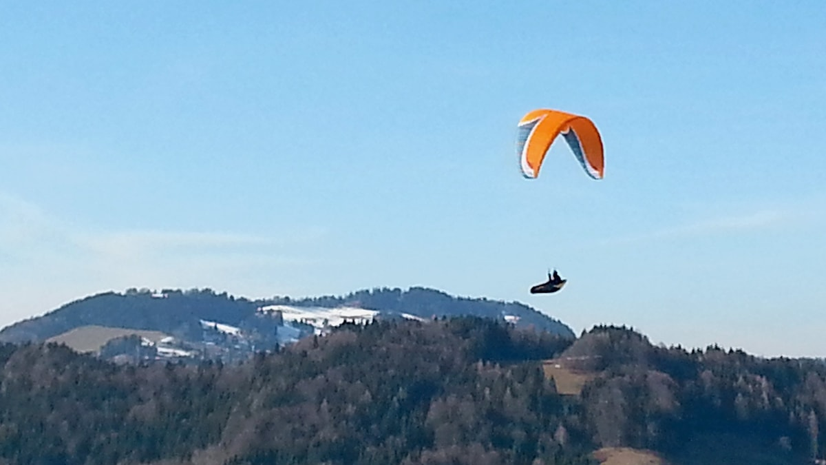 Skärmflygning i schweiziska alperna