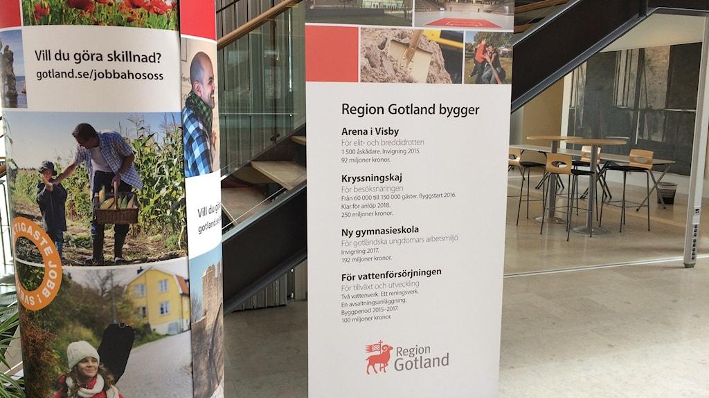 Region Gotlands investeringar. Foto: Daniel Värjö/Sveriges Radio