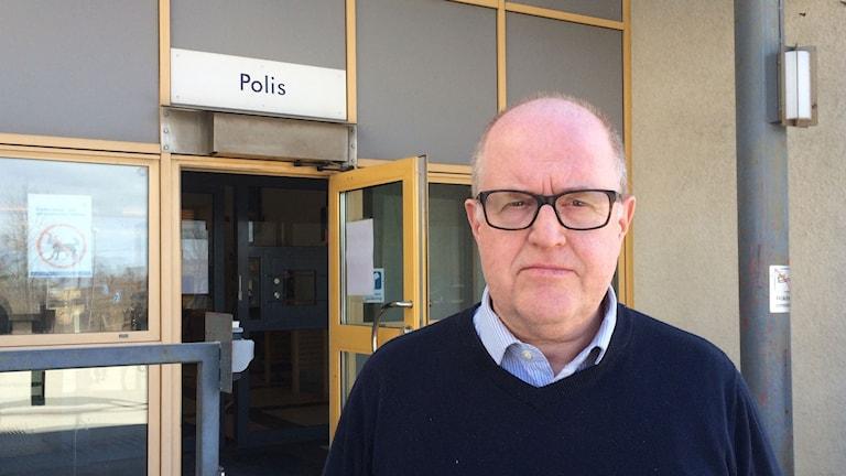 Mats Holst, chef för utredningsenheten polisen Gotland. Foto: Anna Jutehammar/ Sveriges Radio