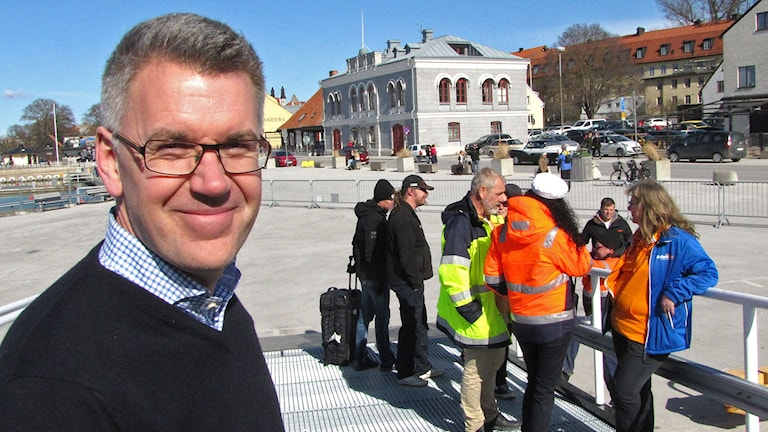 Vd Ralph Axelson med crew i Visby