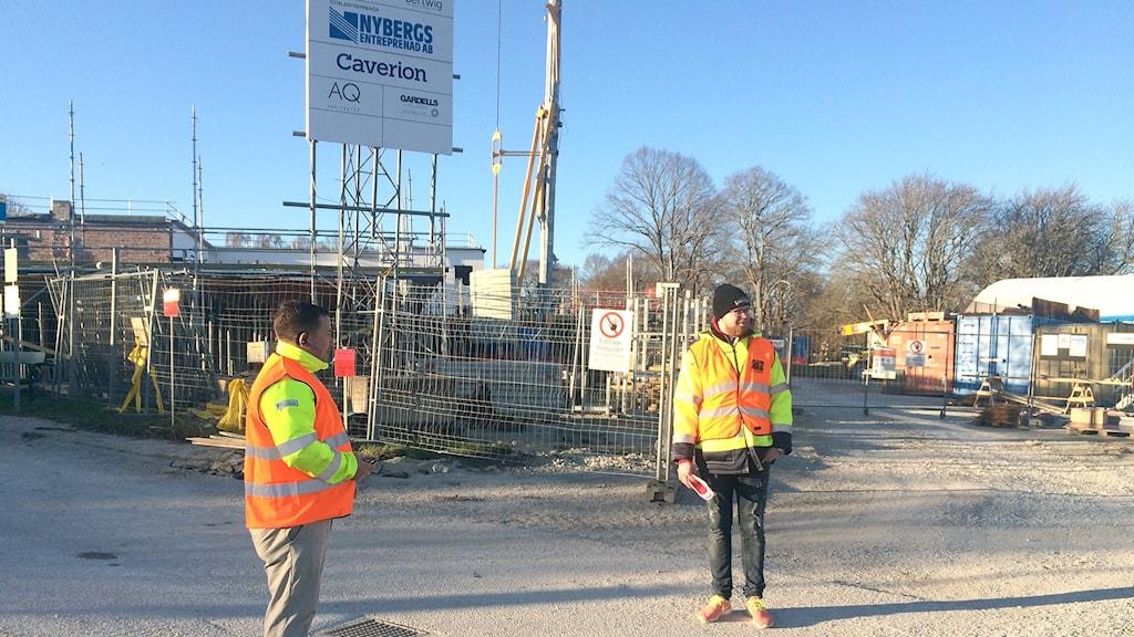 Strejk vid bygget av Göransgården i Visby.
