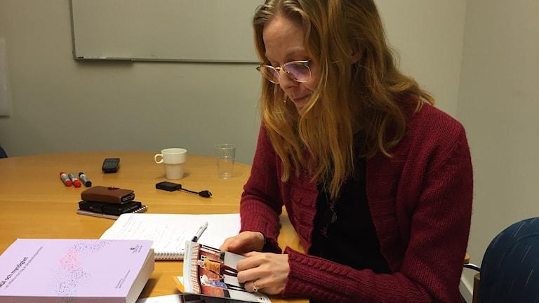 Sofia Nordström, länsstyrelsens särskilt sakkunniga i jämställdhet. Foto: Katarina Hedström/Sveriges Radio
