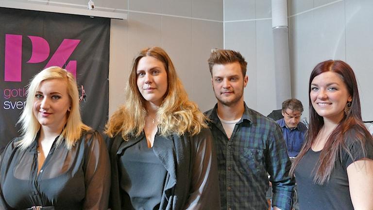 Madde Karlsson, Karolina Lyngstad, Oscar Svensson och Jennifer Olsson.