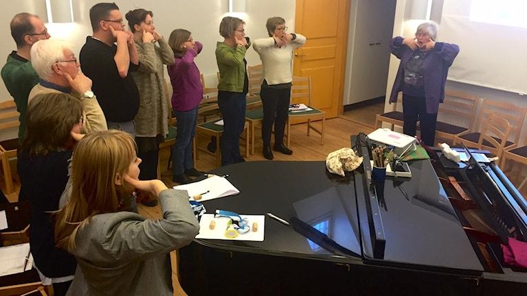 """Gotländska körledare lär sig om """"Anti-aging för rösten"""""""