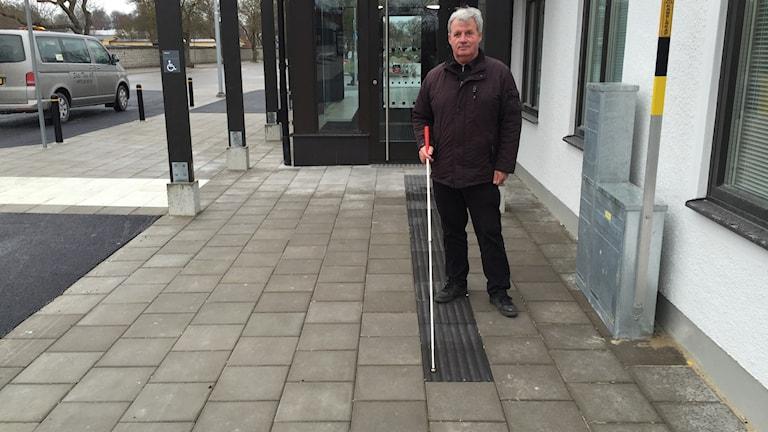 Gösta Karlsson där ledstråket tar slut