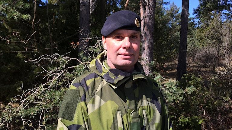 Stefan Pettersson, chef stridsgrupp Gotland. Foto: Daniel Värjö/Sveriges Radio