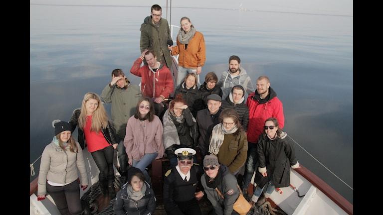 Foto taget av BAC gruppbild båt i Slite hamn