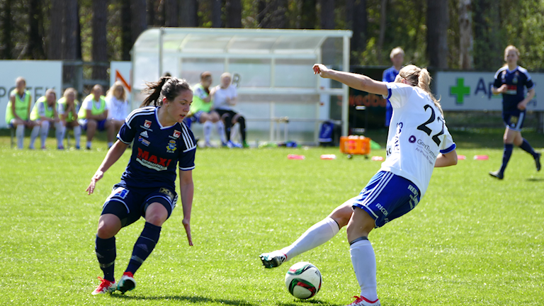 Alma Nygren i P18 mot Nyköping. Foto: Eva Didriksson