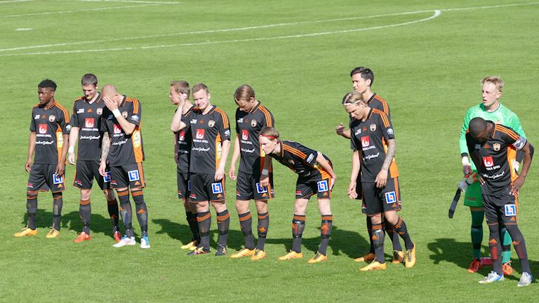 FC Gute innan matchen mot Gamla Upsala