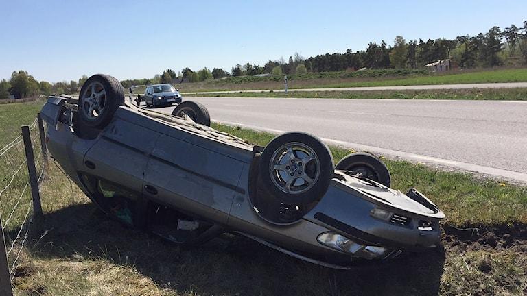 Trafikolycka på Gotland