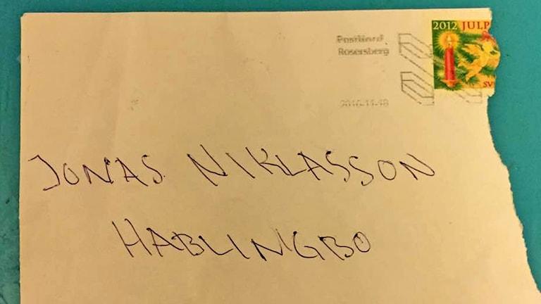 Brev till Jonas Niklasson innehöll avföring