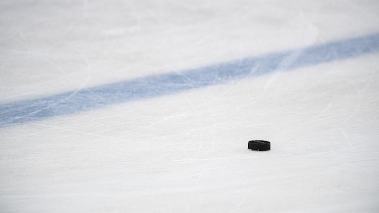 Hockeypuck på is.