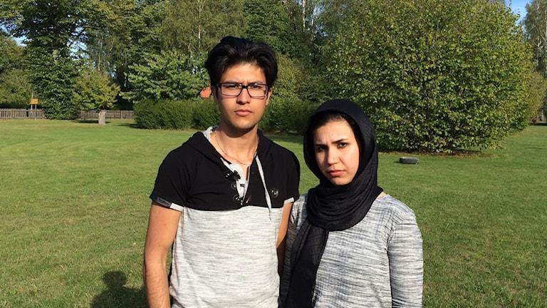 Yalda Jamali och hennes bror Amir.