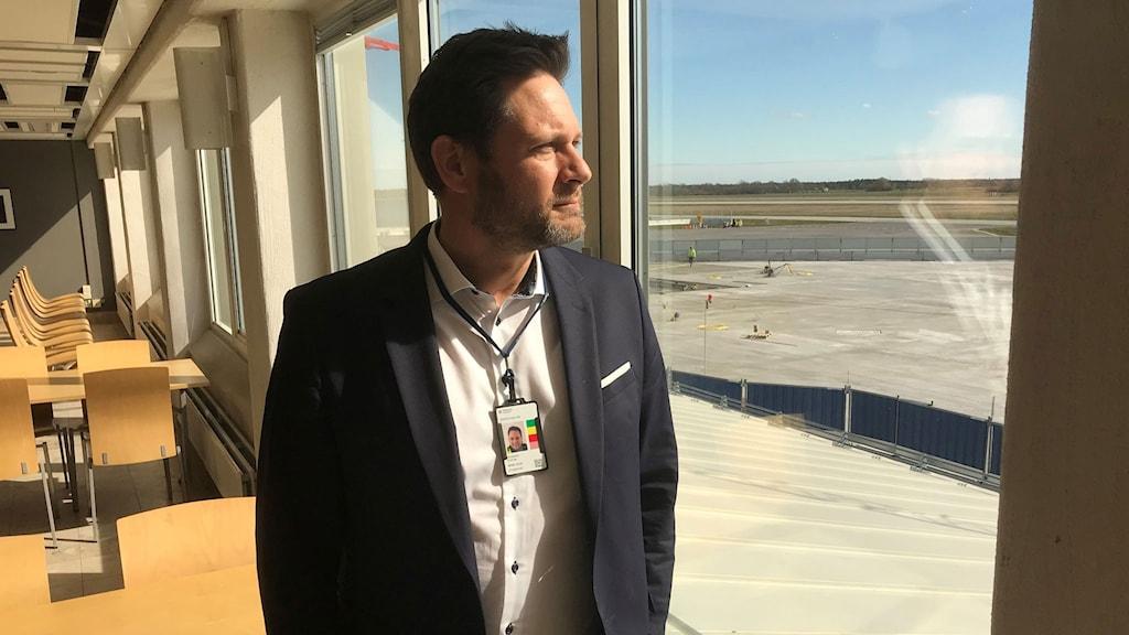 Gunnar Jonasson, flygplatschef Visby.