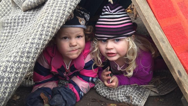 Lilly och Frö på förskolan Karlavagnen