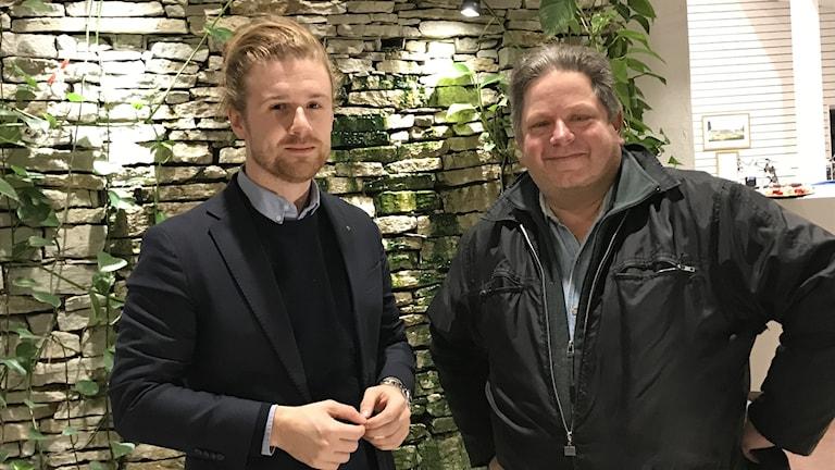 Jesper Skalberg-Karlsson tillsammans med Mats Linder.