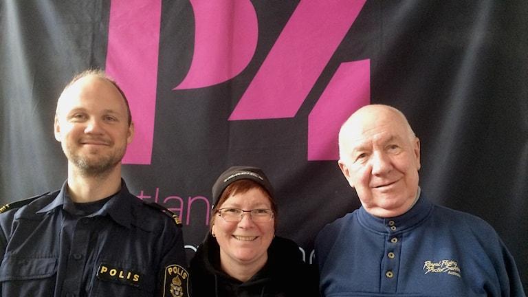 Tobias Engström, Anna Rönnle och Göran Ericksson