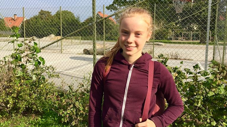 Viil Wessel går på Montesoriskolan i Visby och det hon oroar sig för mest är klimatfrågan.