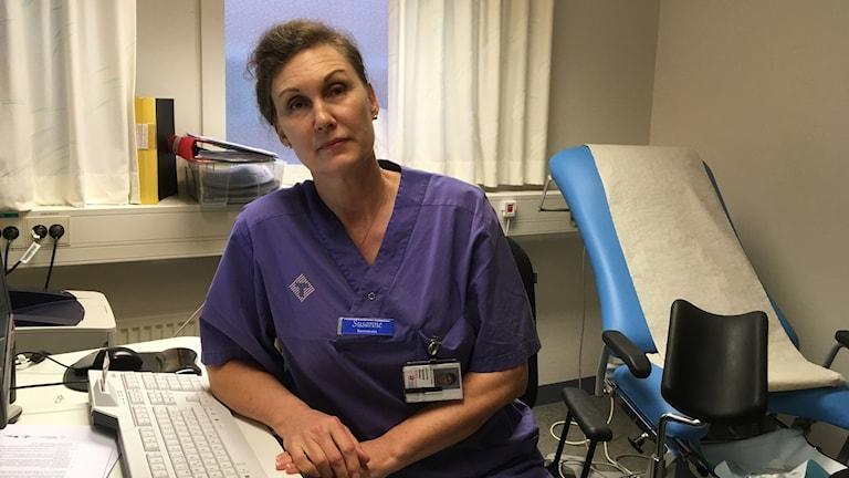 Susanne Öhman är dysplasibarnmorska visby lasarett och träffar de kvinnor som fått cellförändringar.