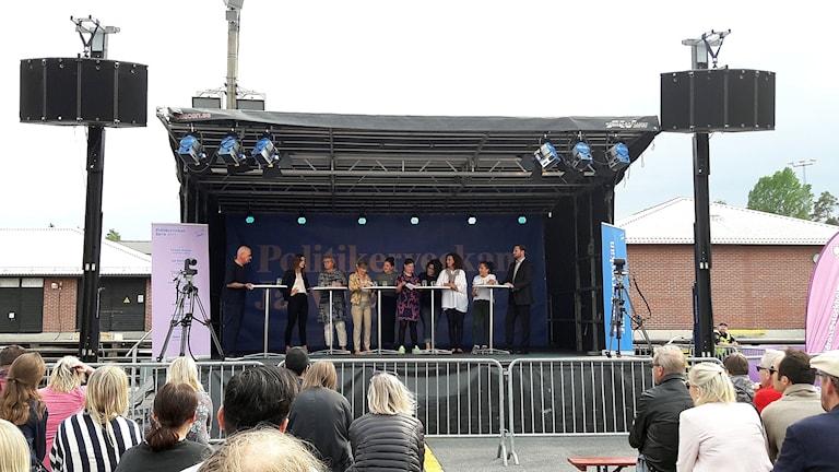 Jämställdhetssamtal på scenen under politikerveckan i Järva 2017.