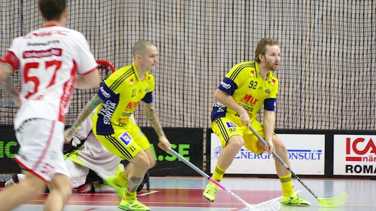 Robin Melin och Maxmiliam Gureng i Visby IBK. Foto: Eva Didriksson/Sveriges Radio