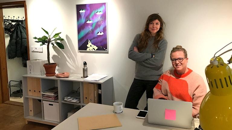 Maria Backlund och Emma Hanquist, frilanskontoret Rosa Gården.