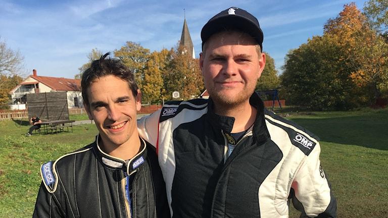 Kalle Malmberg och segraren André Ekström
