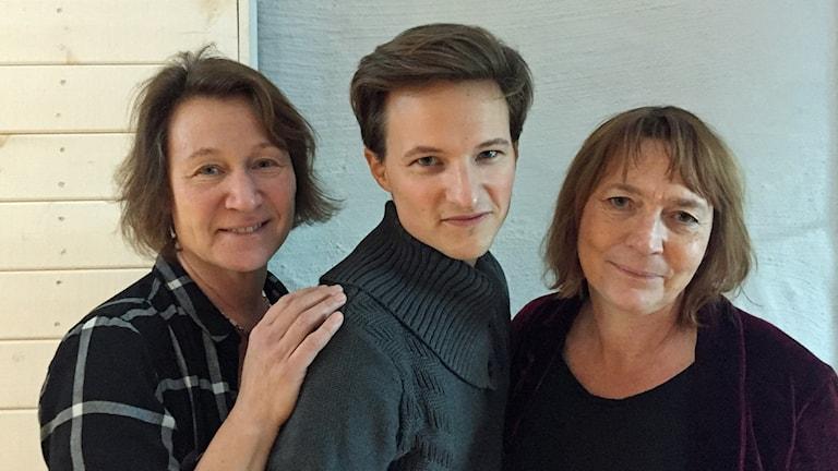 Karin Kickan Holmberg, Filip Johansson och Lotta Grutt.