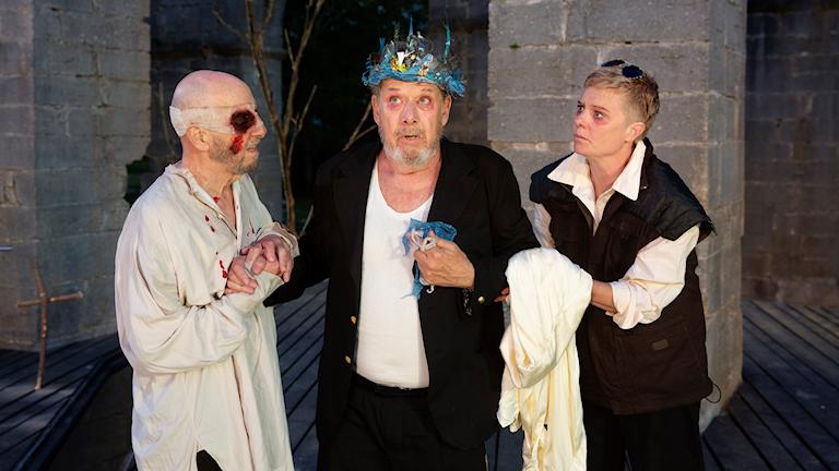 En scen ur Kung Lear på Romateatern