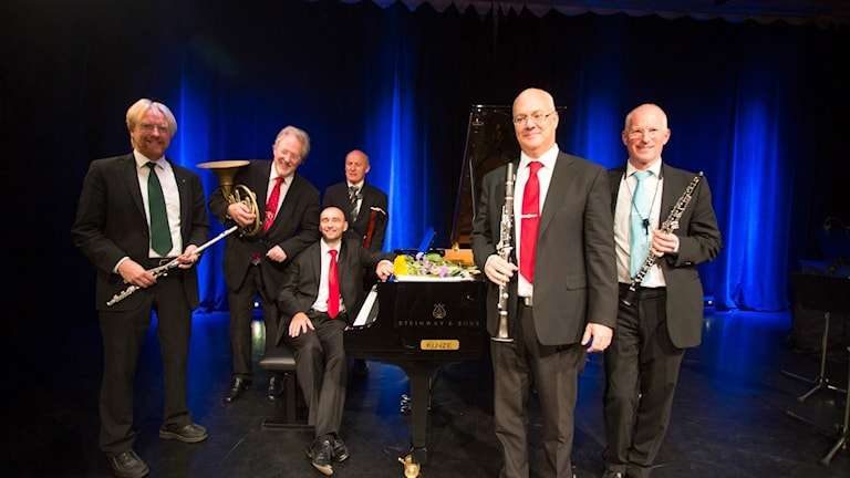 Gotlands Blåsarkvintett med pianisten Wojciech Walecek.
