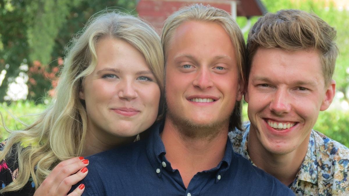 Emmy Rydstrand, Hugo Wennström och Erik Thiman