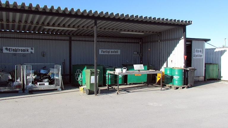Återvinningscentralen i Visby tar emot elektronikskrot och farligt avfall.