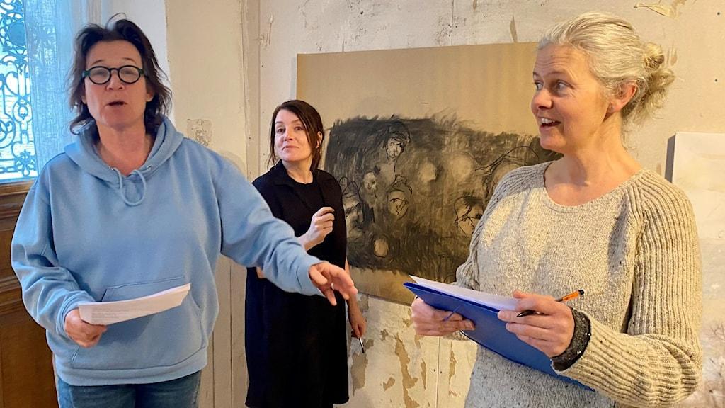 Karin Kickan Holmberg , Jessica Lundeberg och Ann Helling.