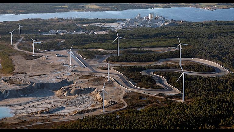Flygbild Gotland ring. Foto: Gunnar Britse.