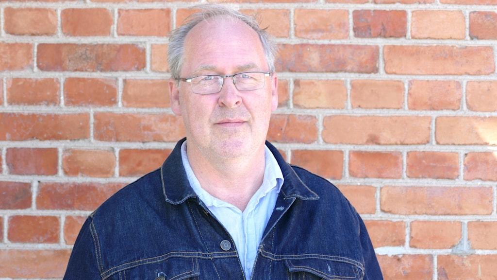 Mats Hallberg, huvudansvarig vid Musiklinjen på Folkhögskolan i Hemse.