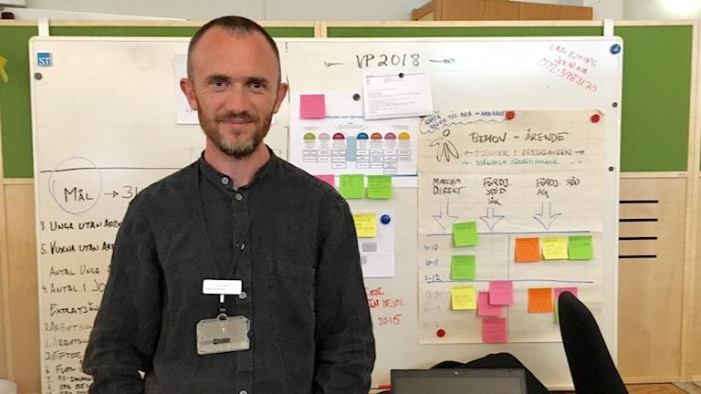 Björn Palmqvist, sektionschef på Arbetsförmedlingen Gotland