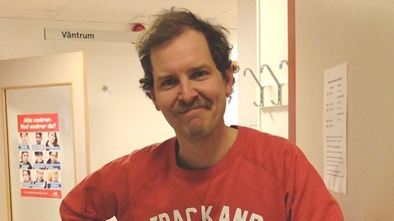 Johan Ahlström på ungdomsmottagningen i Visby.