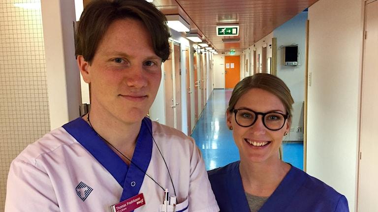 AT-läkare Thomas Fredriksson och ST-läkare Frida Emilsson på Hemse vårdcentral