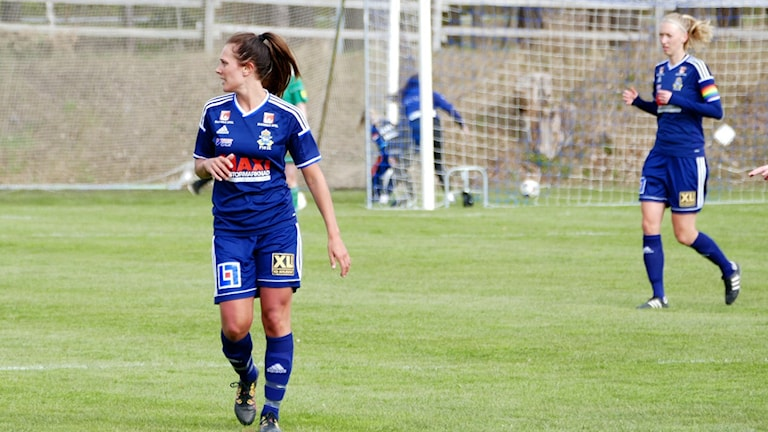 Frida Starkenberg i P18. Foto: Eva Didriksson/Sveriges Radio