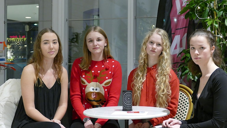 Emma Olofsson, Elin Pettersson, Anna Thålin och Elina Malm