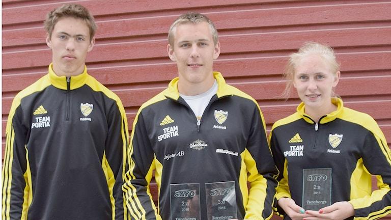 syskontrion Daniel, Linus och Moa Örevik från VIF GUTE Friidrott