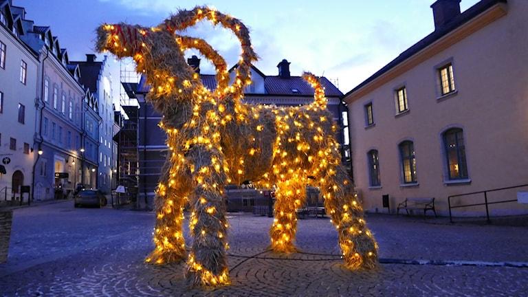 Julbock i Visby